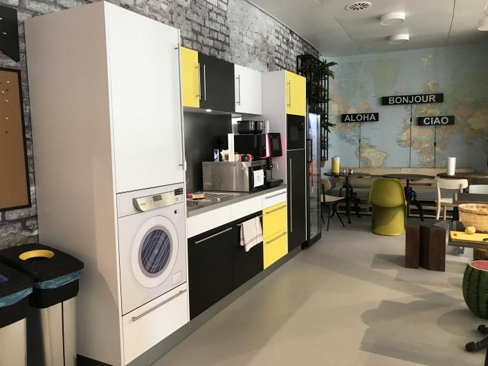 Teeküche Modell Hostel open office
